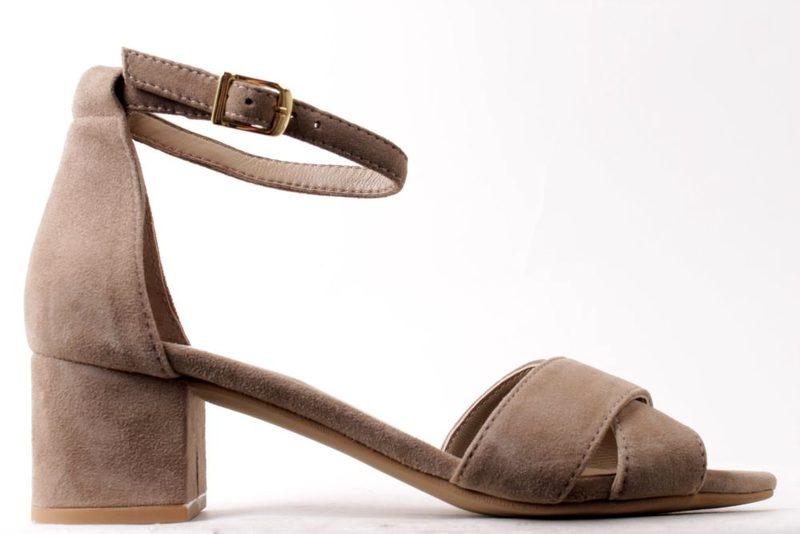 97c51f27d274 Køb BELLA MODA SANDFARVET SANDAL PÅ HÆL Her - Salg af Lette sandaler