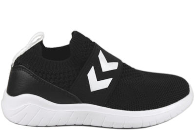 salg af HUMMEL KNIT SLIP-ON RECYCLE BLACK SORT ELASTIK TEKSTIL SNEAKERS