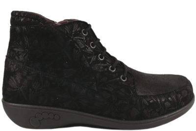 salg af NEW FEET BOOT W ZIPPER GOAT SKIN W. STRUK/PRINT BLACK