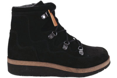 salg af NEW FEET LACED BOOT SUEDE W ORTHOSTRETCH BLACK
