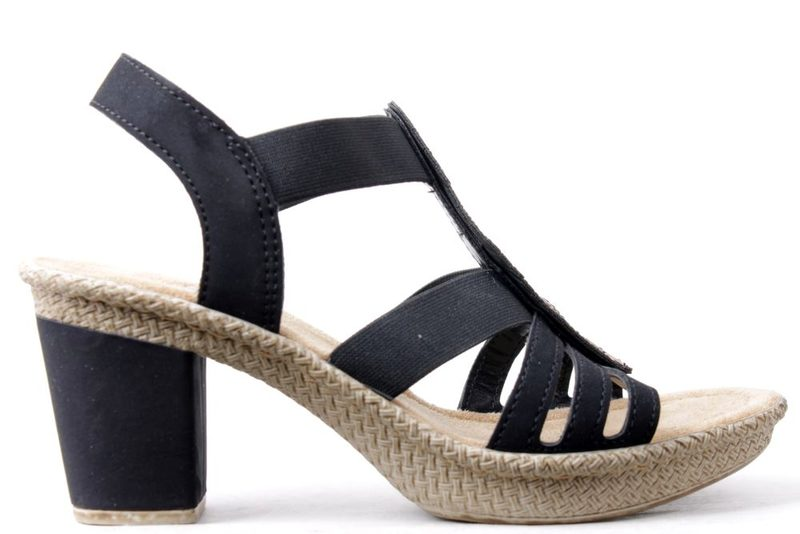 2ff5f62e9d2 Køb RIEKER SANDAL PÅ HÆL MED PERLER Her - Salg af Lette sandaler