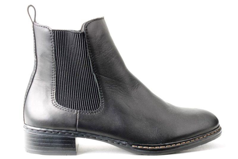 6c5a71f4 Køb RIEKER CHELSEA SORT SKIND Her - Salg af Støvler til damer