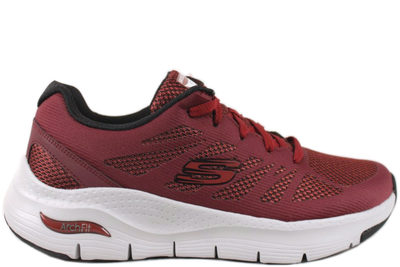 salg af SKECHERS ARCH FIT-CHARGE BACK BORDEAUX MESH SNEAKERS
