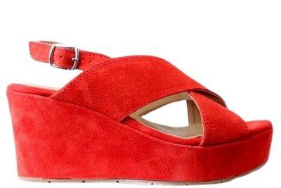 Køb CAPRICE SANDAL PÅ HÆL I RØD Her Salg af Lette sandaler